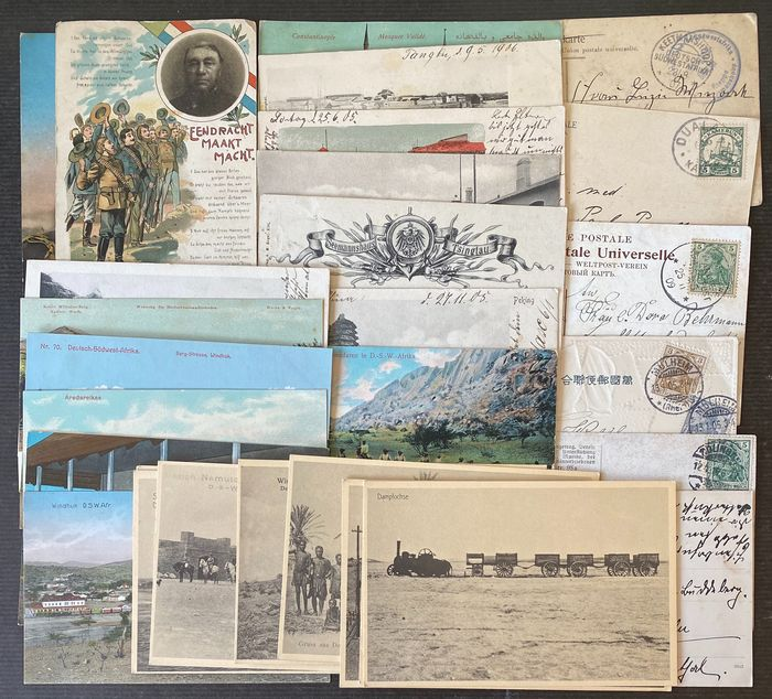 Colonies allemandes - Togo - Lot with 30 picture postcards