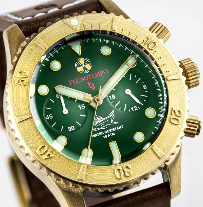 """Tecnotempo - """"NO RESERVE PRICE"""" Chronograph Special Limited Edition Bronze Helix - TT.100.BRVQ (Green) - Heren - 2021"""