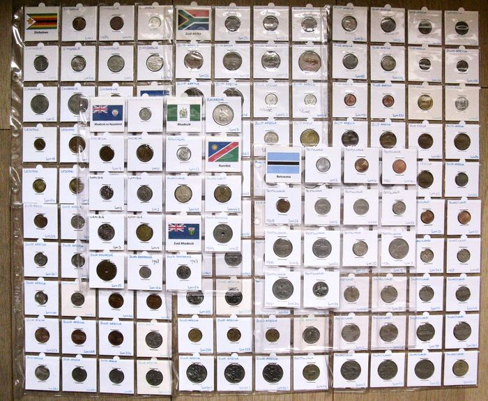 Africa, South. Type Coin Collection 1933/2006 - 145 different coins