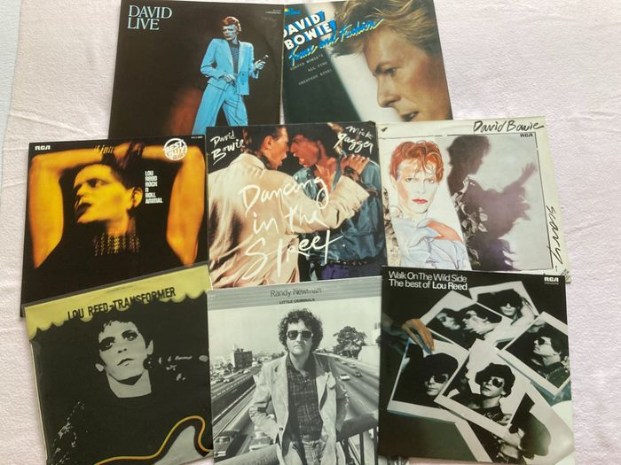 Lou Reed, Randy Newman, David Bowie - `3 Top Artists of Rock and Roll in the 70th. Incl. Bowie&Jager'Dancing in the Street 'Transformer' - Diverse titels - 2xLP Album (dubbel album), LP's - 1972/1985