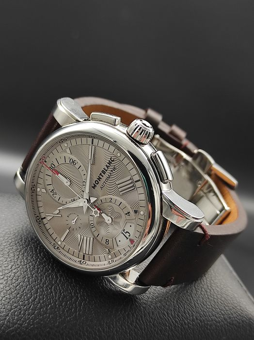 Montblanc - Star Automatic Chronograph Silver Dial - 7104 - Mænd - 2011-nu