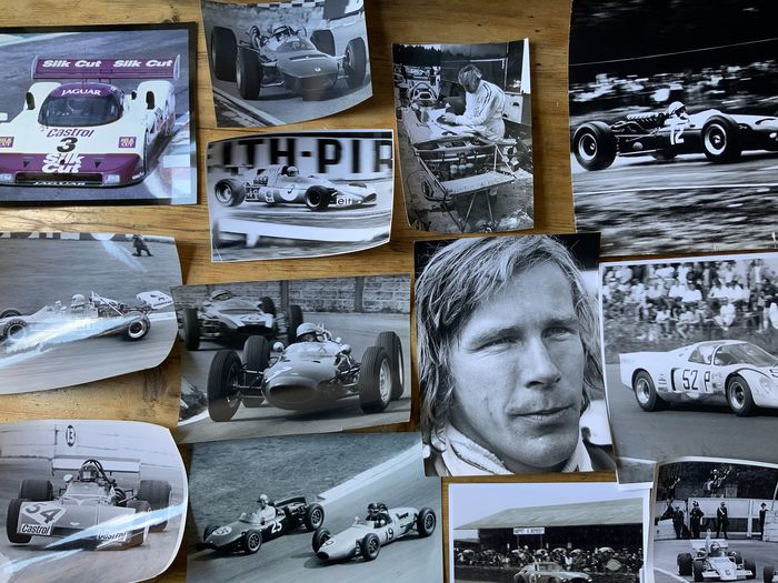 Fotografía - 13 x original motor racing photographs McLaren james Hunt John Surtees - Jaguar, Lotus, McLaren - 1960-1970