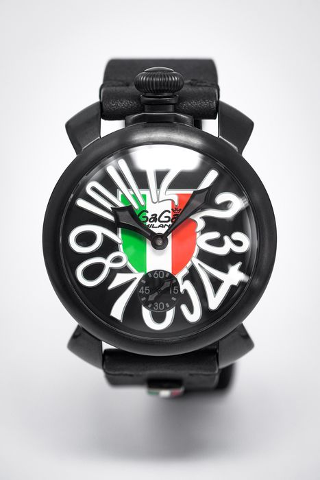 GaGà Milano - Manuale 48MM Italy Shield Black PVD Limited Edition - 5012.IT01 - Mænd - 2011-nu