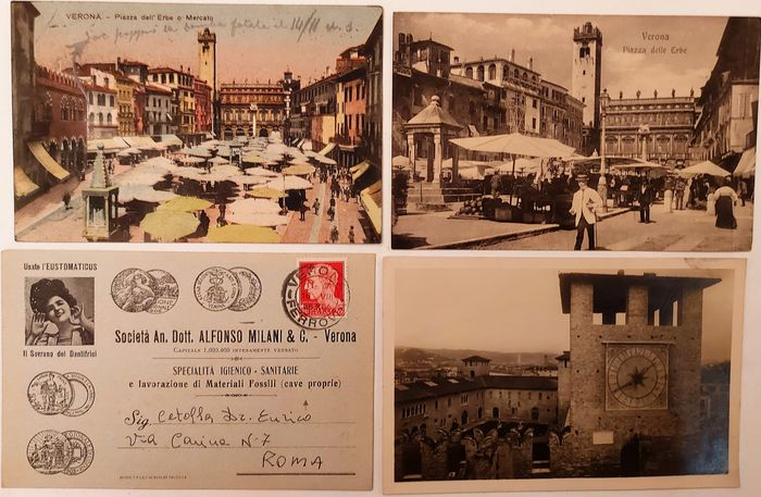 Italy - City & Landscape - Postcard album (Collection of 105) - 1900-1930