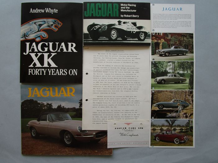 Libros - 1. Jaguar XK forty Years on  2. Jaguar Motorracing 3. Jaguar Werksdoku 4. Fotodoku Jaguar - Jaguar