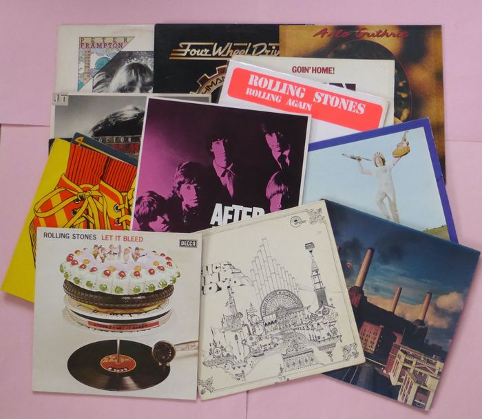 Set of 16 classic rock albums - Multiple artists - Rolling Stones (4), Pink Floyd (2), Dr. Hook (3), Ten Years After etc - Multiple titles - LP's - 1968/1980