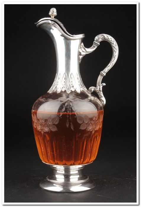 Decanter - .950 silver - France - Second half 19th century
