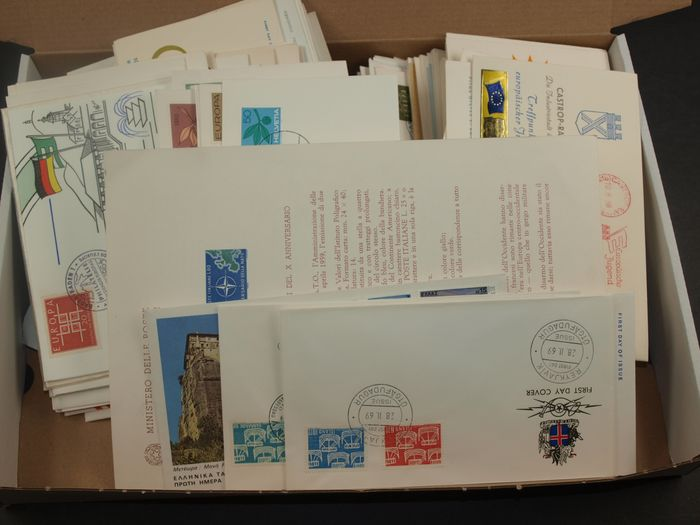 Europa - Topical Cover lot Europe Thematic with special cancels, event covers and FDC