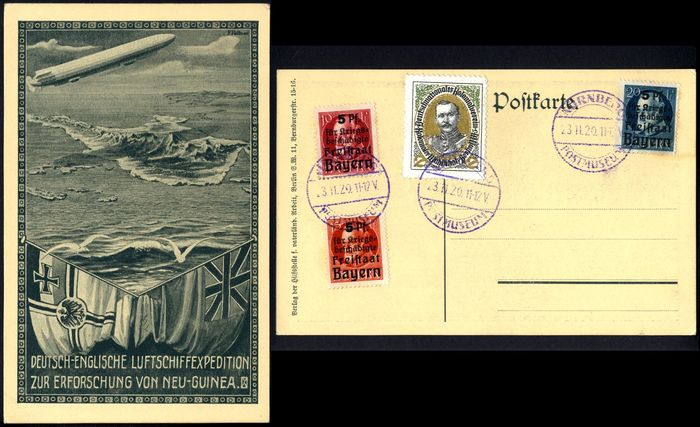 Duitse Rijk 1913 - German-English airship expedition for the exploration of New Guinea