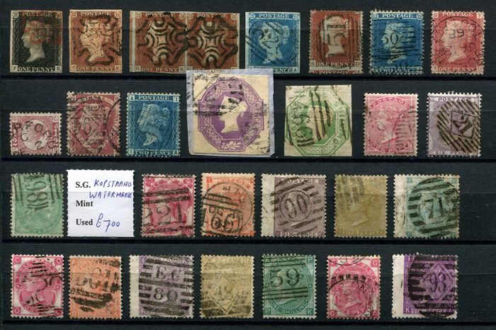 Gran Bretagna 1840/1891 - Collectie Victoria cat £31.597 including many high values - Stanley Gibbons
