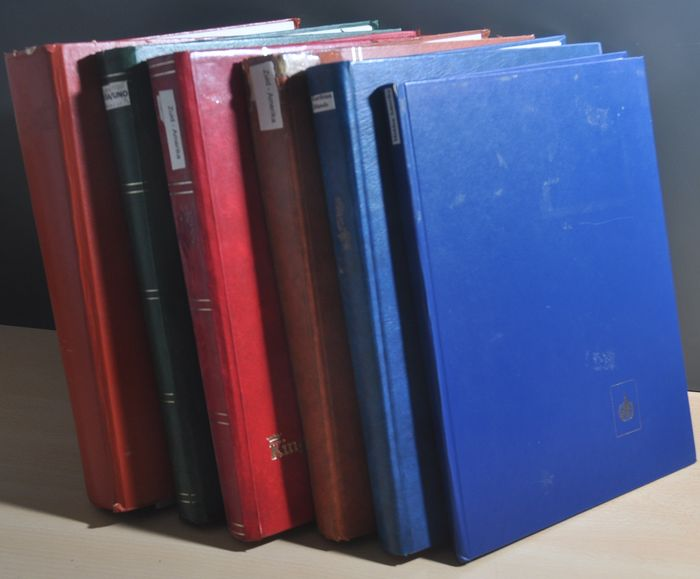 World - Batch with a.o. classic in various stock books including South America