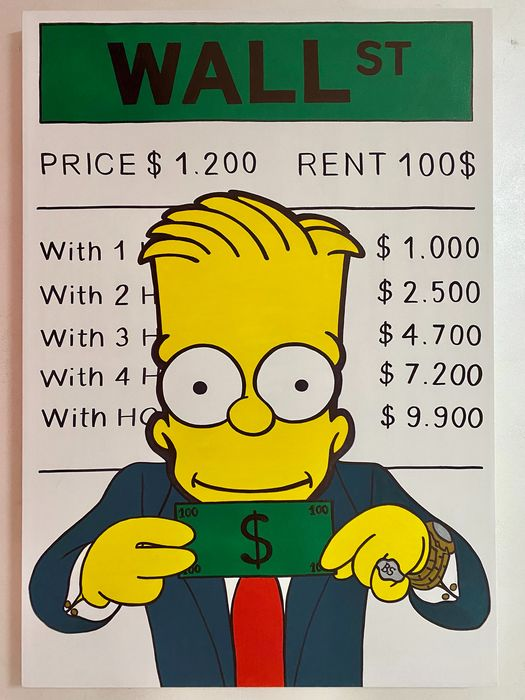 MVR-ART - Bart Simpson The Wolf of Wall Street