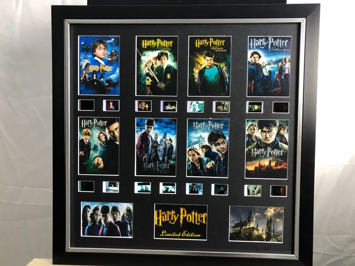 Harry Potter - Large Frame, with Logo and Film Cell Displays of All 8 Movies!
