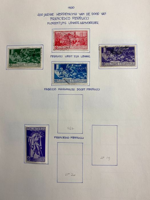 Welt 1908 - Beautiful old collection Italy stamps, Express stamps + unsorted stamps world.