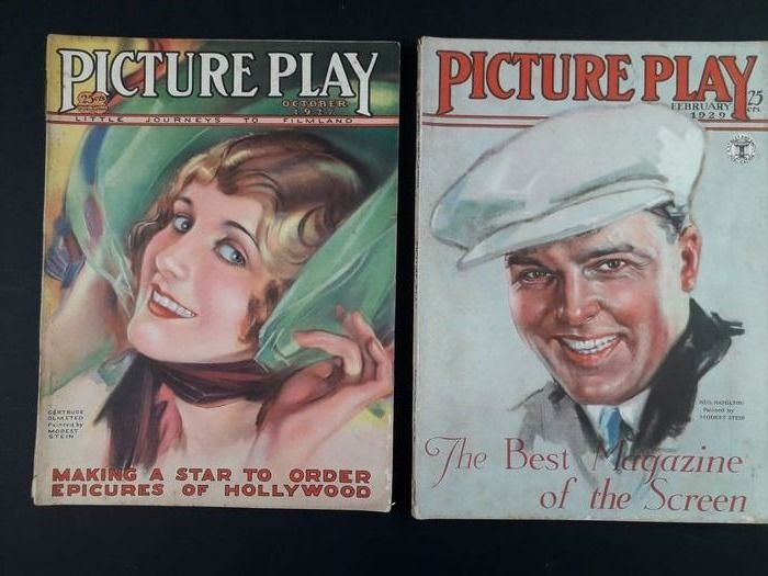 Modest Stein, Marland Stone - Picture Play - Motion Picture - 18x Riviste di Cinema - Softcover - (1926/1936)