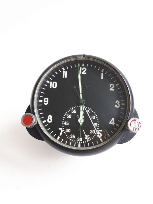 USSR (Russia) - Air Force - Watch, 123 ChS № 37007  Russian USSR Military Air Force Aircraft Cockpit Clock, Watch - 1982