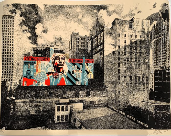 Shepard Fairey (OBEY) - Voting Rights are Human Rights