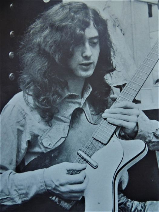 """Jimmy Page, Led Zeppelin, The Yardbirds - Psychedelic Jimmi Page """"Eric Clapton 1970"""" - Original 1st print poster - 1970/1970"""