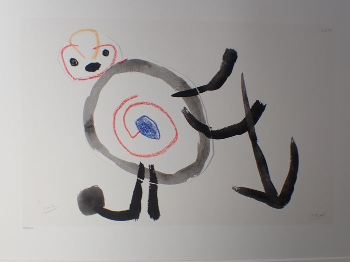 Joan Miró (after) - Abstract personage