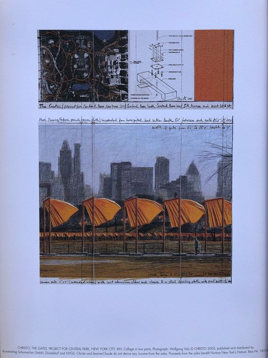 Christo & Jeanne-Claude (1935-2020) - The Gates, Project for Central Park, New York City XXV