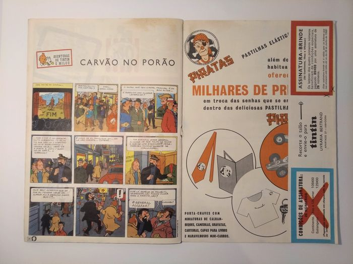 Tintin (magazine) - Portugal - Le Journal Tintin No 1 - première année - tête de collection (Billy the Kid uncensored) - Stapled - First edition - (1968)