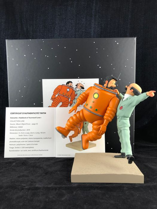 Tintin 44024 - Statuette Fariboles/Moulinsart 44024 - Haddock et Tournesol Lune - Collection lune - (2019)