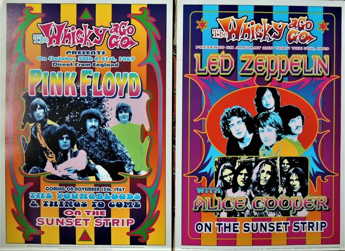 Alice Cooper, Led Zeppelin, Pink Floyd - Diverse Künstler - Psychedelic Pink Floyd and Led Zeppelin - Reprint Poster (Neuauflage) - 1999/1999