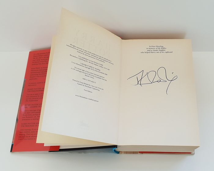 J.K. Rowling - Signed 1st Harry Potter and the Goblet of Fire with letter - 2000