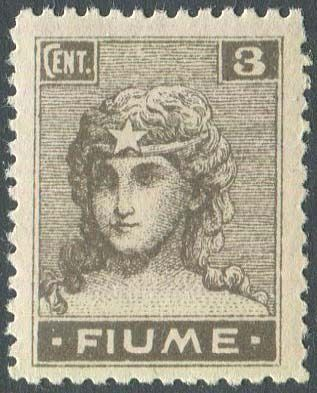 Fiume 1919 - Allegories 3 cents perforated 10.5. - Sassone N. 33/I