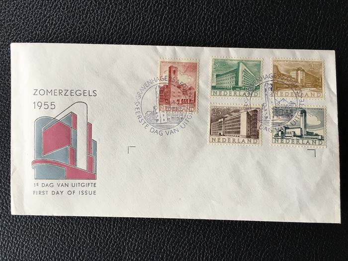 Pays-Bas 1955 - FDC Summer stamps - NVPH E21