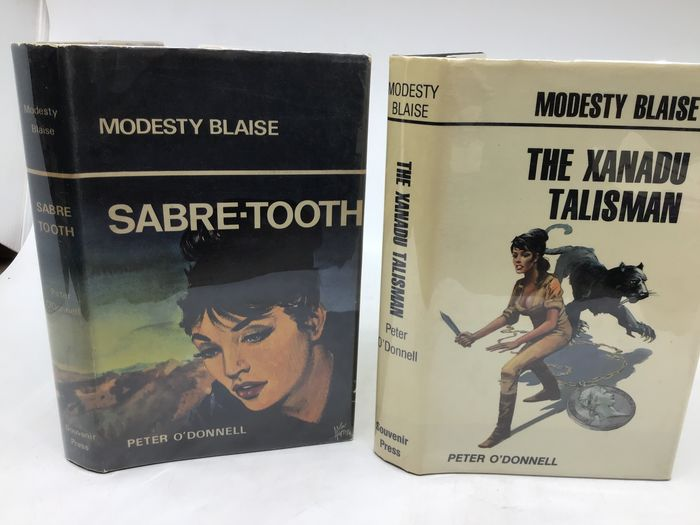 Peter O'Donnell - Modesty Blaise first editions: Sabre-Tooth + The Xanadu Talisman - 1966/1981