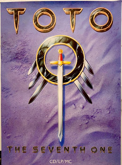 Toto - The Seventh One. Large - Original 1st print poster - 1988/1988