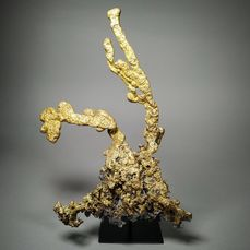 Artistic foundry - Gold plated bronze casting - Bronze, Gold Leather
