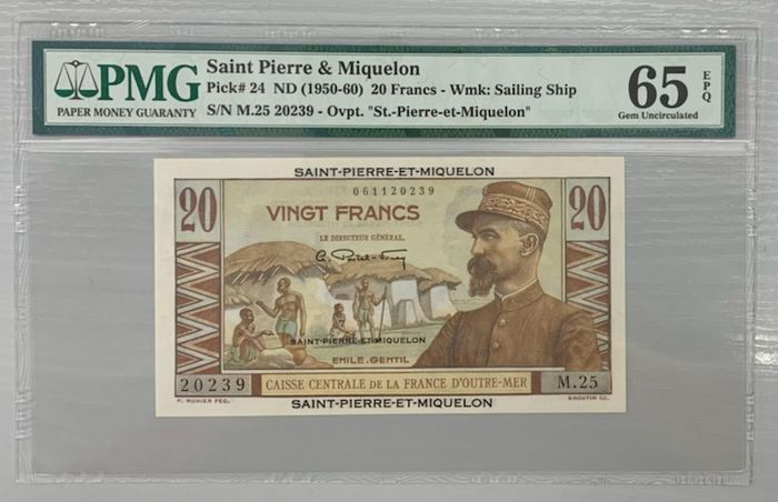 Saint-Pierre en Miquelon - 20 Francs ND (1950-60) - Pick 24