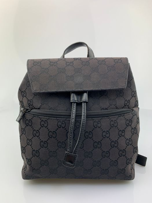 Gucci - GG Black Canvas Backpack