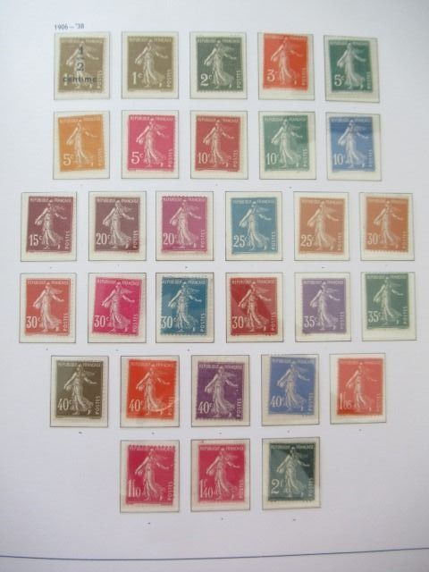 Francia 1849/1949 - Advanced collection of stamps.