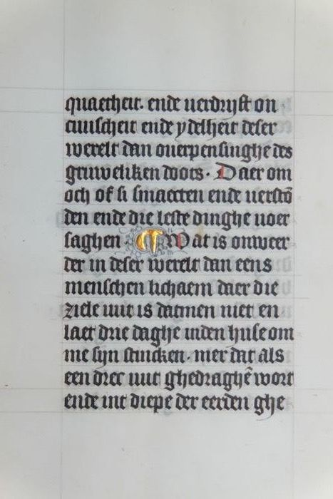 Manuscript - Page from a Dutch Book of Hours  ca. 1450