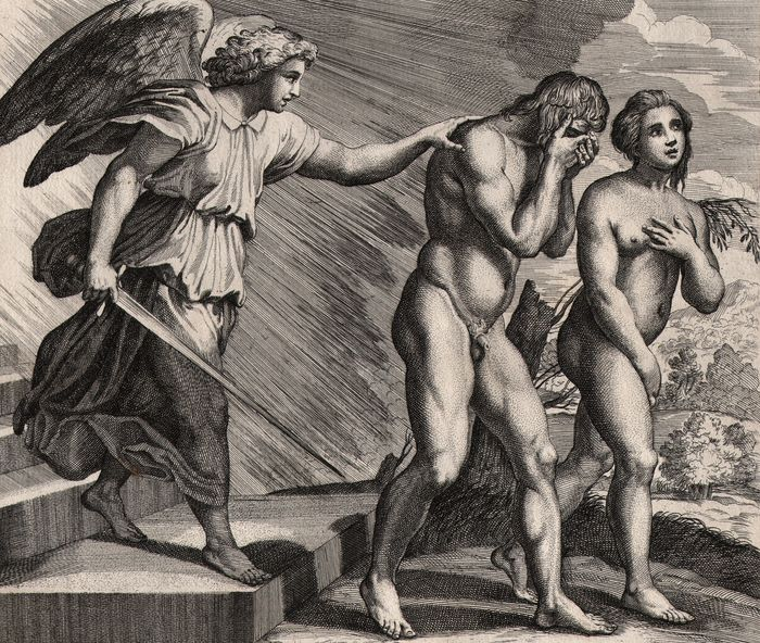 Cesare Fantetti (fl. 1660-1675) - Adam and Eve expelled from paradise