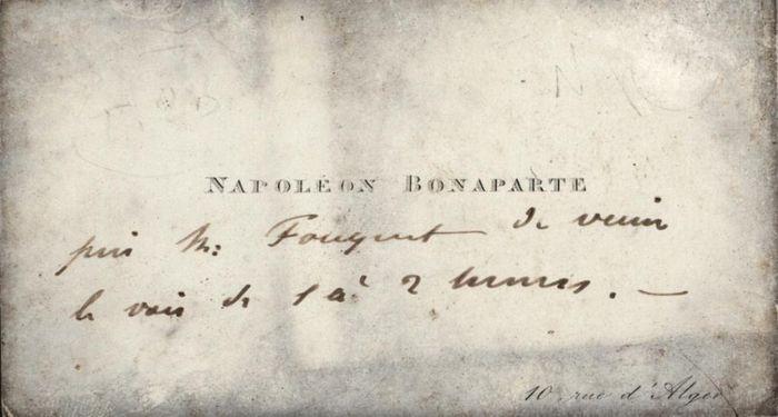 Napoleone Giuseppe Carlo Bonaparte (Plon Plon) - Autograph; Personal Business Card with Message from Paris (not signed) - 1848/1880