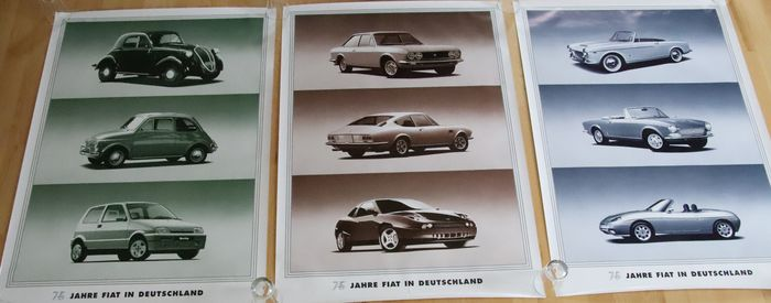 Cartel/impresión - show room posters - 75 Years in Germany - Fiat - Posterior a 2000