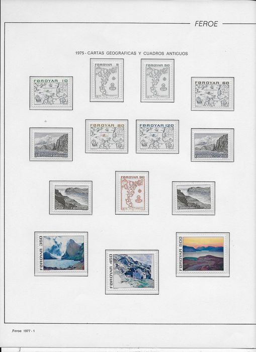 Faeröer 1975/1989 - 15 complete years of stamps. - AFA 1/187