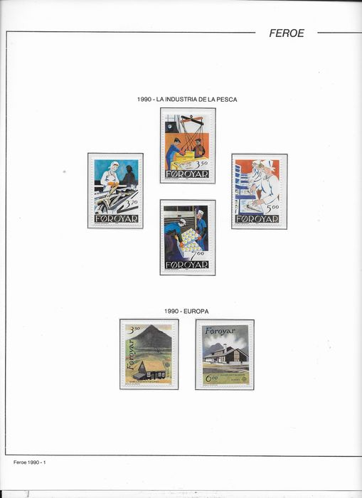 Faeröer 1990/2000 - 11 complete years of stamps. - AFA 188/378