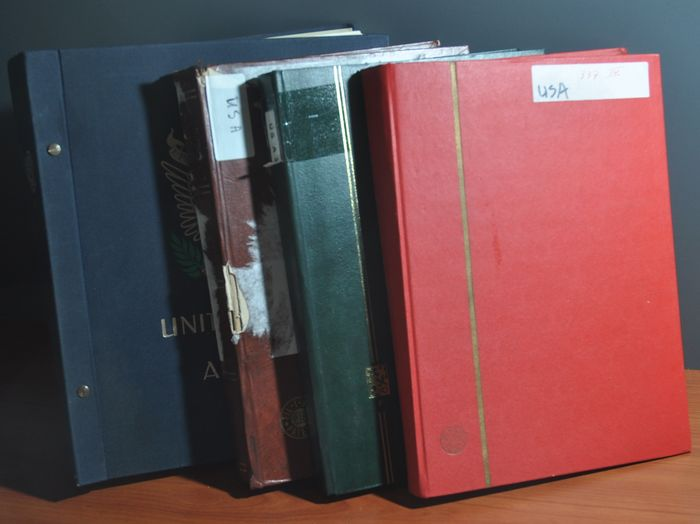 USA - Collection in a DAVO album and in various stock books