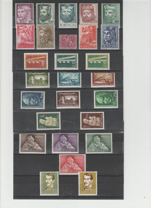 Portugal - Portugal 1955-1957, collection of 3 full years.