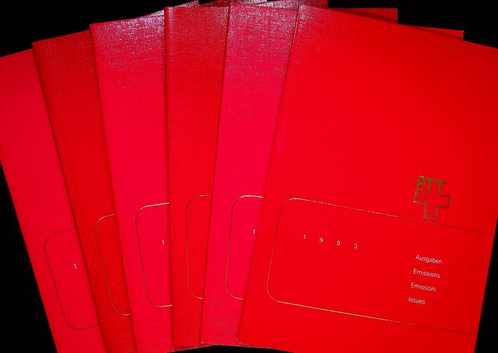 Suisse 1982/1999 - 19 official annual folders