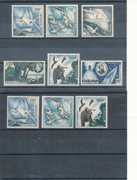 Monaco 1933/1984 - Airmail, complete collection - Yvert PA 1-104