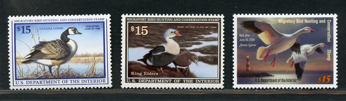 USA 1960/1990 - Geese - hunting permits