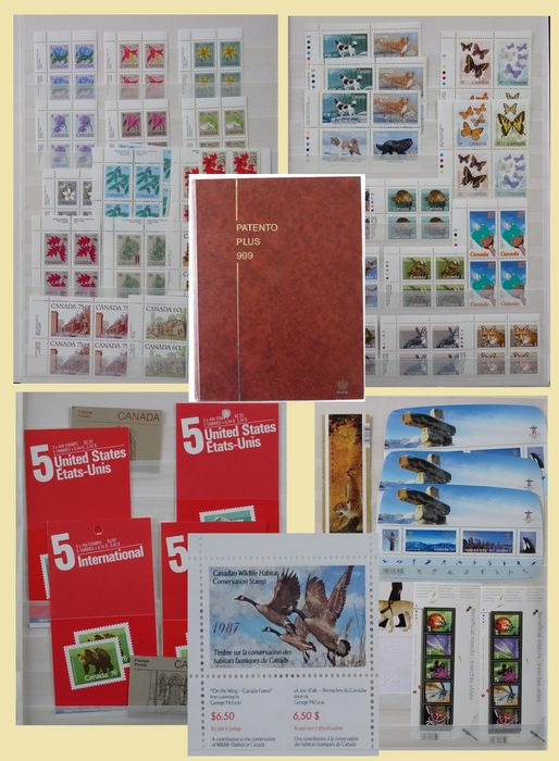 Kanada 1967/2010 - Collection of mostly blocks of four in a stock book