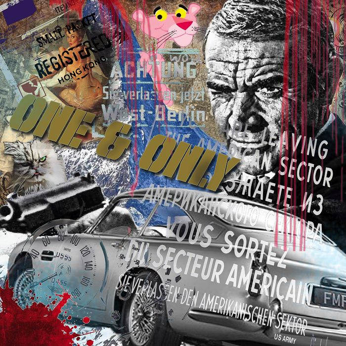 """James Bond - Sean Connery - Opera d'arte """"One & Only """" - Original Luc Best - Limited Edition"""