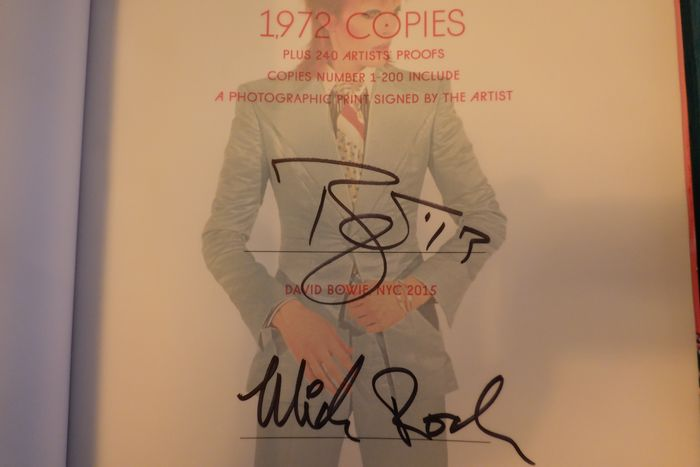 Signed; Mick Rock / Signed; David Bowie - The rise of David Bowie, 1972-1973 - 2015